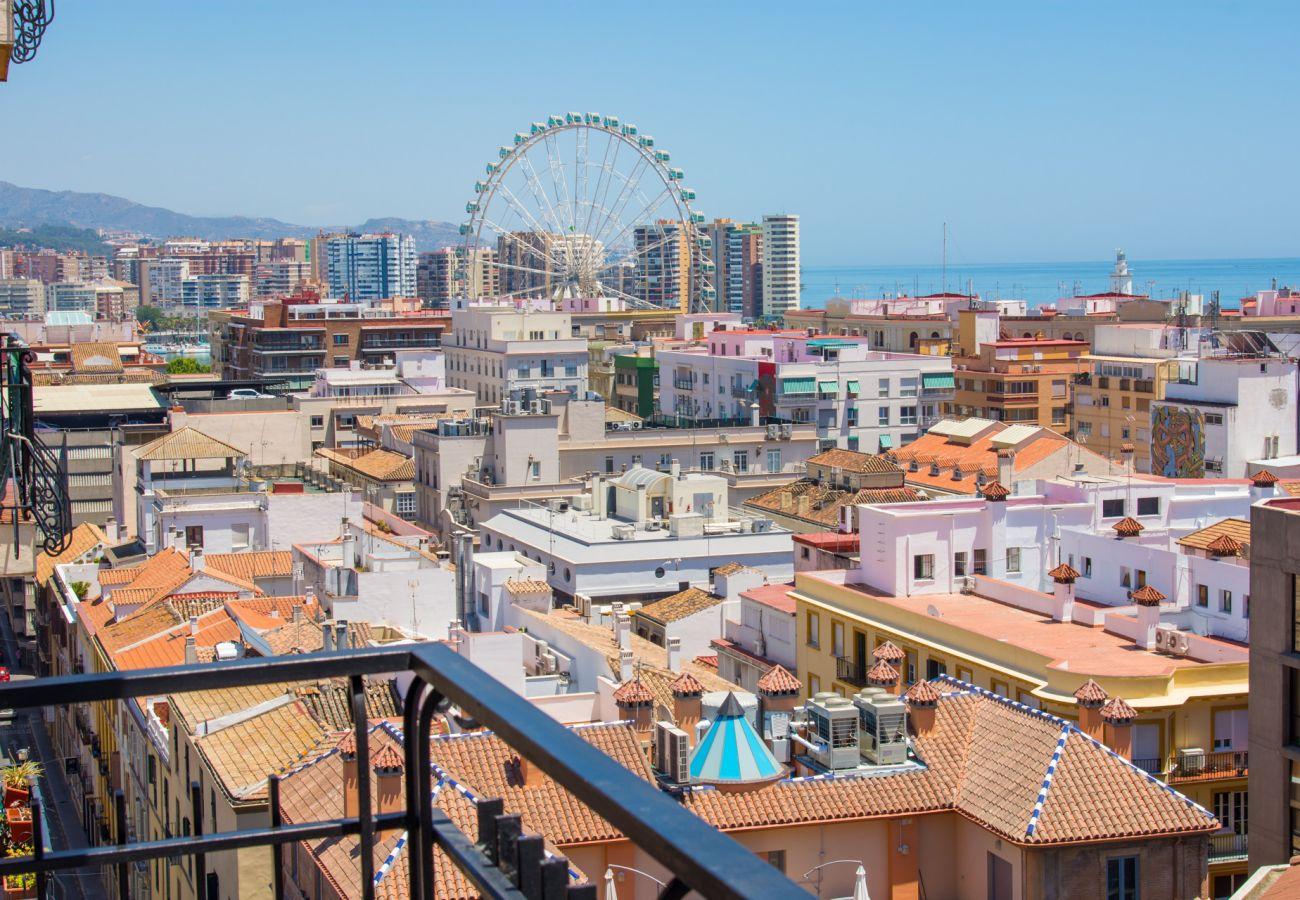 Nyrenoveret feriebolig med terrasse i kvarteret SoHo i Malaga