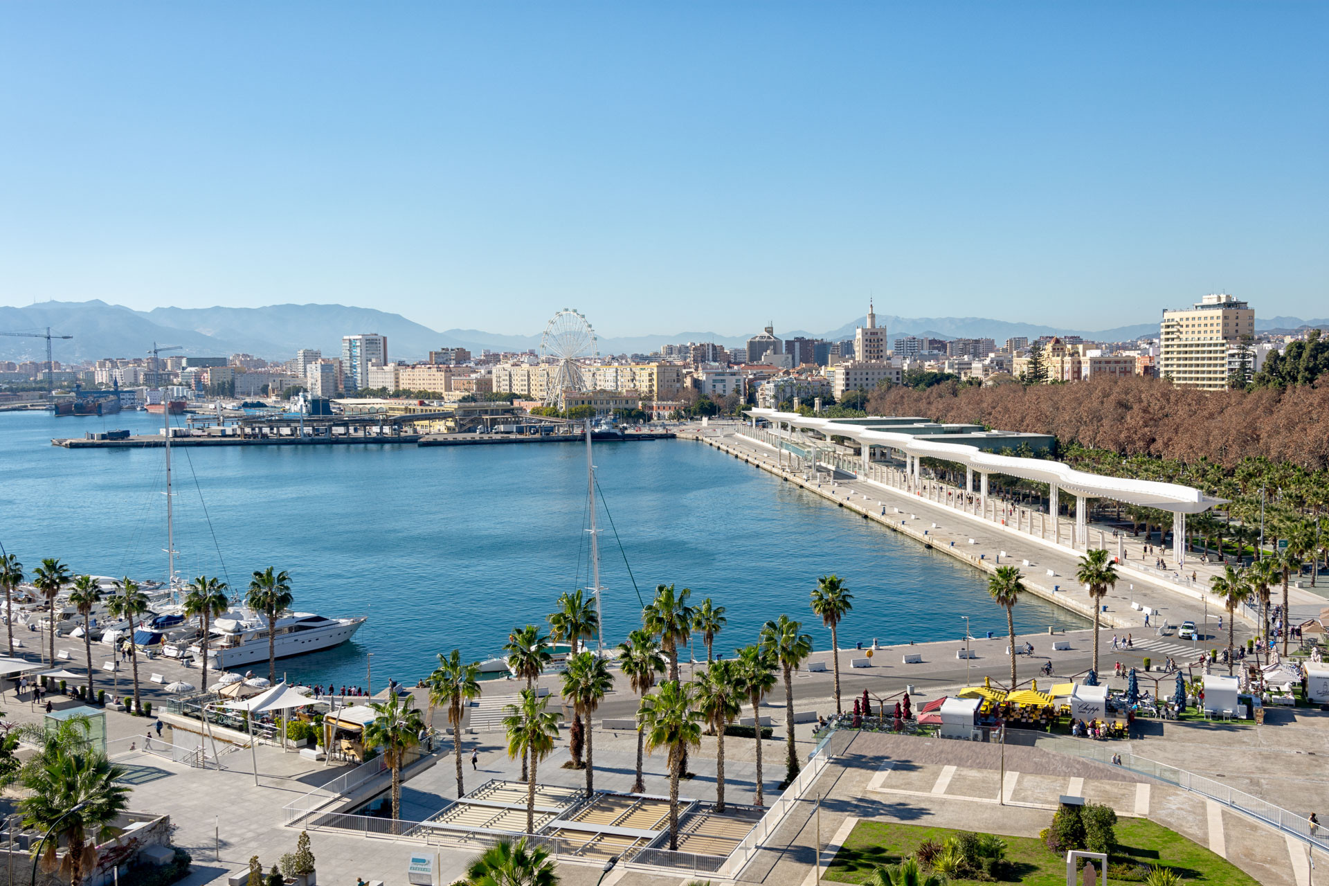 Ferielejlighed med fantastisk udsigt over Muelle Uno i Malaga