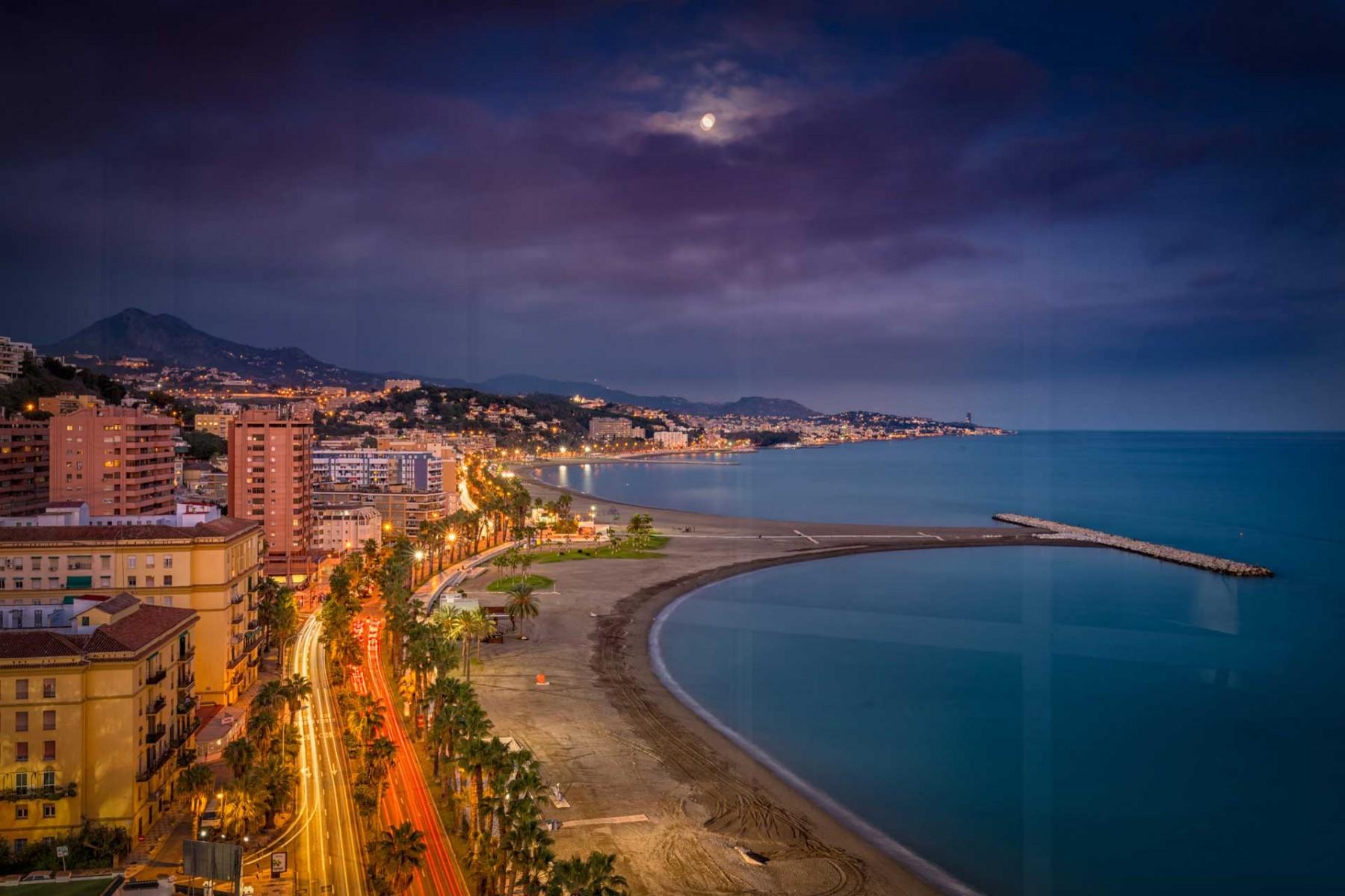 Ferielejlighed med fantastisk udsigt i området Malagueta i Malaga