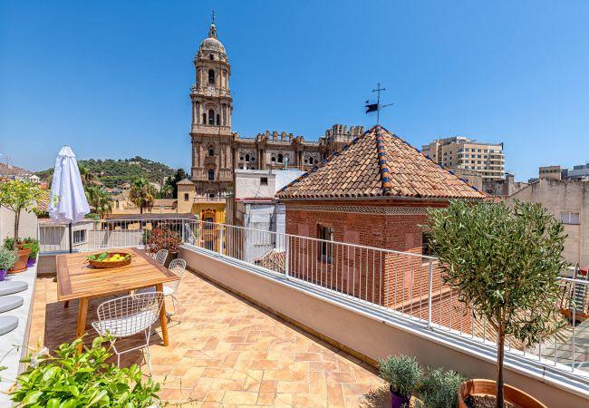i Málaga - Laurel  - fantastisk penthouse foran Malaga-katedralen